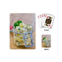Potato salad in a jar on wooden Playing Cards (Mini)