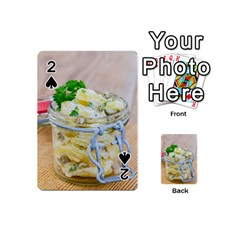 Potato Salad In A Jar On Wooden Playing Cards 54 (mini)  by wsfcow