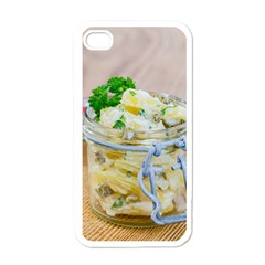Potato salad in a jar on wooden Apple iPhone 4 Case (White)