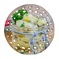 Potato Salad In A Jar On Wooden Ornament (round Filigree)  by wsfcow
