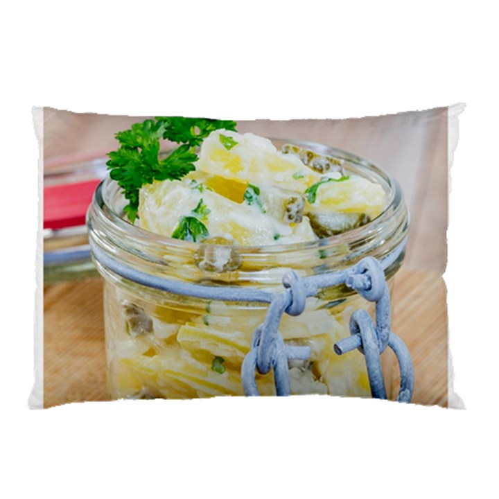 Potato salad in a jar on wooden Pillow Case (Two Sides)