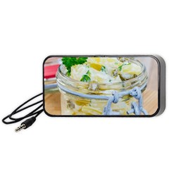 Potato Salad In A Jar On Wooden Portable Speaker (black)  by wsfcow