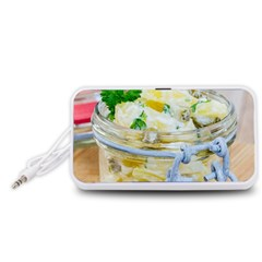 Potato Salad In A Jar On Wooden Portable Speaker (white)  by wsfcow