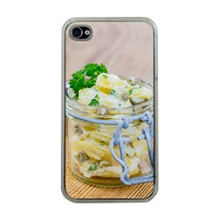 Potato salad in a jar on wooden Apple iPhone 4 Case (Clear)