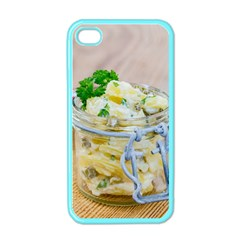 Potato Salad In A Jar On Wooden Apple Iphone 4 Case (color) by wsfcow
