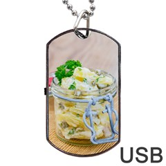Potato Salad In A Jar On Wooden Dog Tag Usb Flash (one Side) by wsfcow