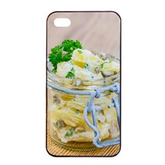 Potato salad in a jar on wooden Apple iPhone 4/4s Seamless Case (Black)