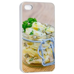 Potato salad in a jar on wooden Apple iPhone 4/4s Seamless Case (White)