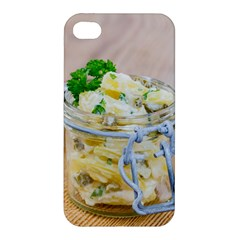 Potato salad in a jar on wooden Apple iPhone 4/4S Hardshell Case