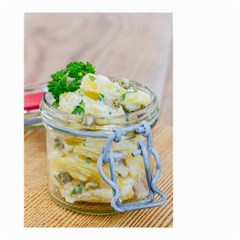 Potato salad in a jar on wooden Small Garden Flag (Two Sides)