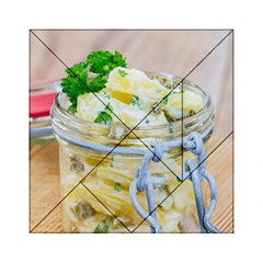 Potato salad in a jar on wooden Acrylic Tangram Puzzle (6  x 6 )