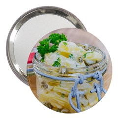 Potato Salad In A Jar On Wooden 3  Handbag Mirrors