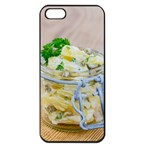 Potato salad in a jar on wooden Apple iPhone 5 Seamless Case (Black) Front