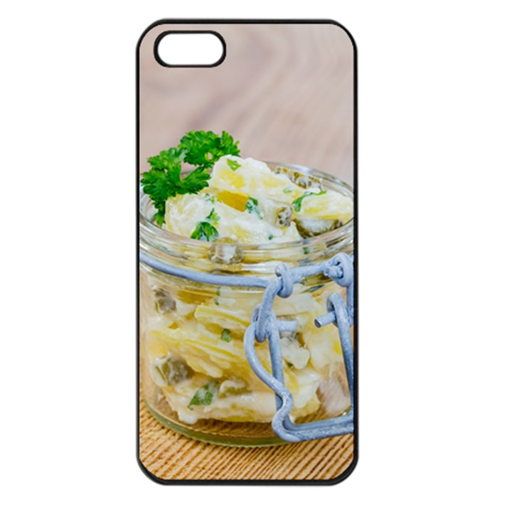 Potato salad in a jar on wooden Apple iPhone 5 Seamless Case (Black)