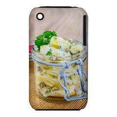 Potato salad in a jar on wooden Apple iPhone 3G/3GS Hardshell Case (PC+Silicone)