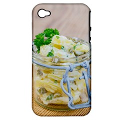 Potato Salad In A Jar On Wooden Apple Iphone 4/4s Hardshell Case (pc+silicone) by wsfcow