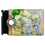 Potato salad in a jar on wooden Apple iPad 2 Flip 360 Case Front