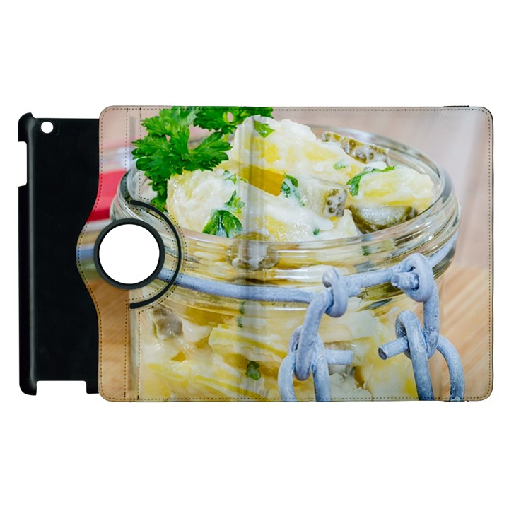 Potato salad in a jar on wooden Apple iPad 2 Flip 360 Case