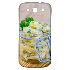 Potato salad in a jar on wooden Samsung Galaxy S3 S III Classic Hardshell Back Case