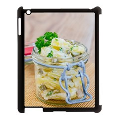 Potato salad in a jar on wooden Apple iPad 3/4 Case (Black)