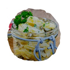 Potato Salad In A Jar On Wooden Standard 15  Premium Round Cushions by wsfcow