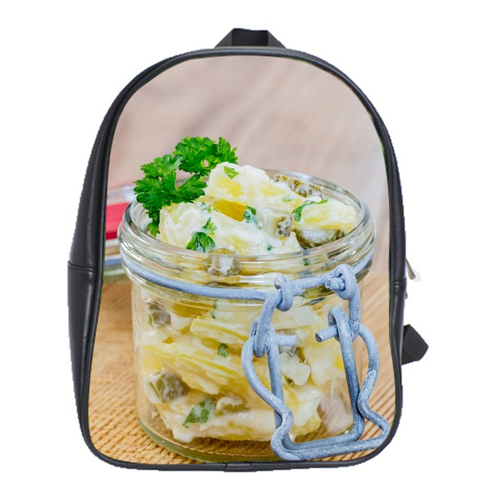 Potato salad in a jar on wooden School Bags (XL)