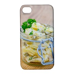Potato salad in a jar on wooden Apple iPhone 4/4S Hardshell Case with Stand
