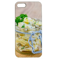 Potato salad in a jar on wooden Apple iPhone 5 Hardshell Case with Stand