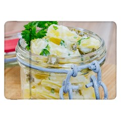 Potato salad in a jar on wooden Samsung Galaxy Tab 8.9  P7300 Flip Case