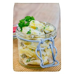 Potato salad in a jar on wooden Flap Covers (S)