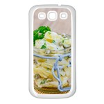 Potato salad in a jar on wooden Samsung Galaxy S3 Back Case (White) Front