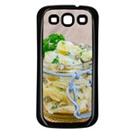 Potato salad in a jar on wooden Samsung Galaxy S3 Back Case (Black) Front