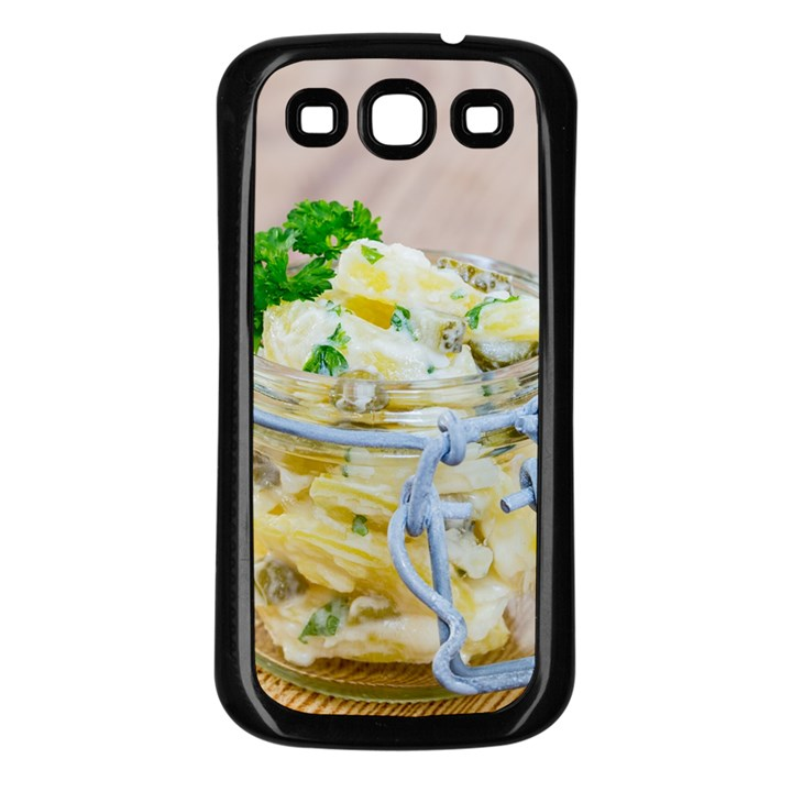 Potato salad in a jar on wooden Samsung Galaxy S3 Back Case (Black)