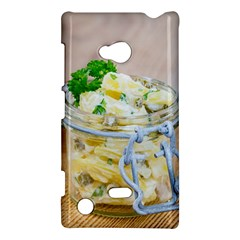 Potato Salad In A Jar On Wooden Nokia Lumia 720 by wsfcow