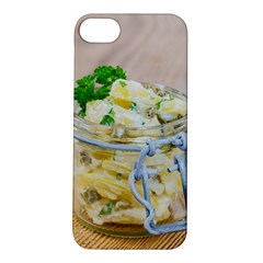 Potato salad in a jar on wooden Apple iPhone 5S/ SE Hardshell Case