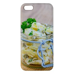 Potato salad in a jar on wooden iPhone 5S/ SE Premium Hardshell Case