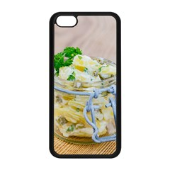 Potato salad in a jar on wooden Apple iPhone 5C Seamless Case (Black)