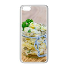 Potato Salad In A Jar On Wooden Apple Iphone 5c Seamless Case (white)