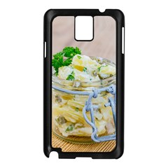 Potato Salad In A Jar On Wooden Samsung Galaxy Note 3 N9005 Case (black)