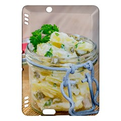 Potato Salad In A Jar On Wooden Kindle Fire Hdx Hardshell Case by wsfcow