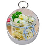 Potato salad in a jar on wooden Silver Compasses Front