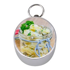 Potato Salad In A Jar On Wooden Mini Silver Compasses by wsfcow