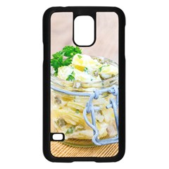 Potato Salad In A Jar On Wooden Samsung Galaxy S5 Case (black)