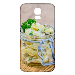 Potato salad in a jar on wooden Samsung Galaxy S5 Back Case (White)