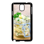 Potato salad in a jar on wooden Samsung Galaxy Note 3 Neo Hardshell Case (Black) Front