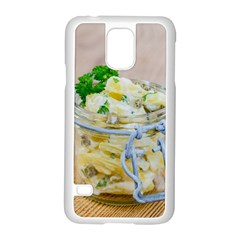 Potato Salad In A Jar On Wooden Samsung Galaxy S5 Case (white) by wsfcow