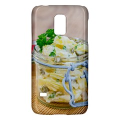 Potato salad in a jar on wooden Galaxy S5 Mini