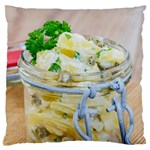 Potato salad in a jar on wooden Standard Flano Cushion Case (One Side) Front