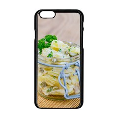 Potato salad in a jar on wooden Apple iPhone 6/6S Black Enamel Case