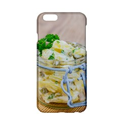Potato salad in a jar on wooden Apple iPhone 6/6S Hardshell Case